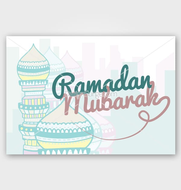 picture relating to Ramadan Cards Printable identified as Ramadan Mubarak Do-it-yourself Printable Card